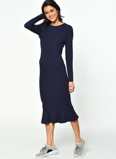 Unique Elbise Lacivert